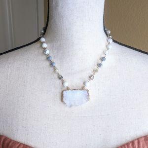Jewelry - Genuine Slice Crystal Electroplated w/ Gold